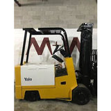 YALE ERC100 10000 LB 36 VOLT ELECTRIC FORKLIFT CUSHION 110/150 3 STAGE MAST SIDE SHIFTER STOCK # BF853703-FTWIB