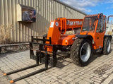2012 SKYTRAK 8042 8000 LB DIESEL TELESCOPIC FORKLIFT TELEHANDLER PNEUMATIC 4WD ENCLOSED CAB 2302 HOURS STOCK # BF9492039-NLEQ - United Lift Used & New Forklift Telehandler Scissor Lift Boomlift