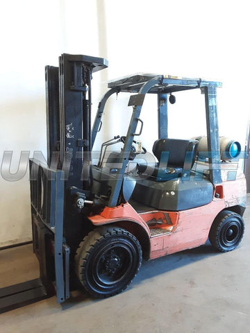 "2000 TOYOTA 7FGU30 6000 LB LP GAS FORKLIFT PNEUMATIC 89/187"" 3 STAGE MAST SIDE SHIFTER 11334 HOURS STOCK # BF9225019-NCB"