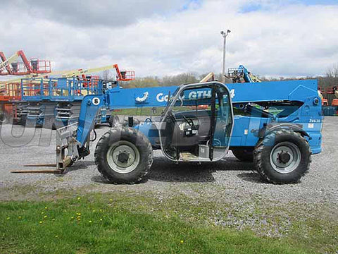 2015 GENIE GTH844 8000 LB DIESEL TELESCOPIC FORKLIFT TELEHANDLER PNEUMATIC 1538 HOURS 4WD STOCK # BF9685079-HLNY