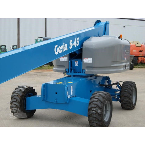 2008 GENIE S45 STRAIGHT BOOM LIFT AERIAL LIFT 45' REACH DIESEL 4WD 4155 HOURS STOCK # BF966729-FILB