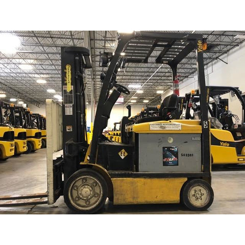 2011 YALE ERC050VG 5000 LB 48 VOLT ELECTRIC FORKLIFT 83/189 3 STAGE MAST SIDE SHIFTER 6432 HOURS STOCK # BFCE3525-PRTX