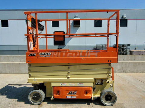 2016 JLG 2632ES SCISSOR LIFT 500 LB 26' REACH ELECTRIC WITH DECK EXTENSION 101 HOURS STOCK # BF9813049-RIL