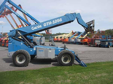2011 GENIE GTH1056 10000 LB DIESEL TELESCOPIC FORKLIFT TELEHANDLER PNEUMATIC 4WD 3863 HOURS STOCK # BF9582779-HLNY