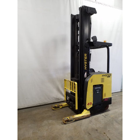 2012 HYSTER N45ZR 4500 LB ELECTRIC FORKLIFT 131/302 3 STAGE MAST SIDE SHIFTER 6630 HOURS STOCK # 21240-NCB