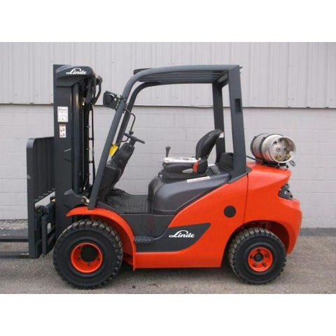 2018 LINDE HT25T 5000 LB LP GAS FORKLIFT PNEUMATIC 86/186 3 STAGE MAST SIDE SHIFTER BRAND NEW STOCK # BF1909-DPKN