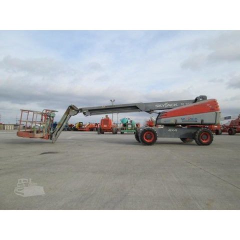 2007 SKYJACK SJ45T STRAIGHT BOOM LIFT AERIAL LIFT WITH JIB ARM 45' REACH DIESEL 4WD 3596 HOURS STOCK # BF962149-FILB