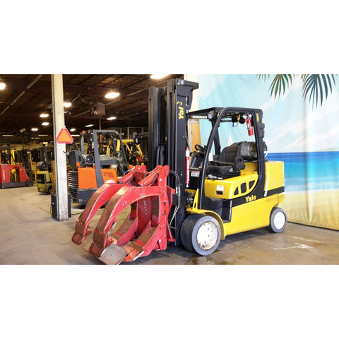 2012 YALE GLC120SVX 12000 LB LP GAS FORKLIFT CUSHION 100/208 3 STAGE MAST STOCK # 17973-NCB