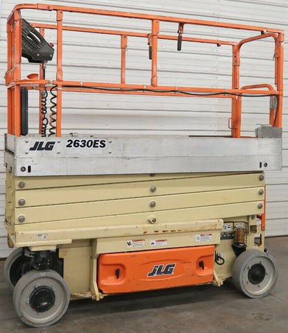 2012 JLG 2630ES SCISSOR LIFT 26' REACH ELECTRIC CUSHION TIRES 257 HOURS STOCK # BF9019740-DPA
