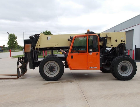 2014 JLG G12-55A 12000 LB DIESEL TELESCOPIC FORKLIFT TELEHANDLER PNEUMATIC 4WD ENCLOSED CAB STOCK # BF924413-RIL