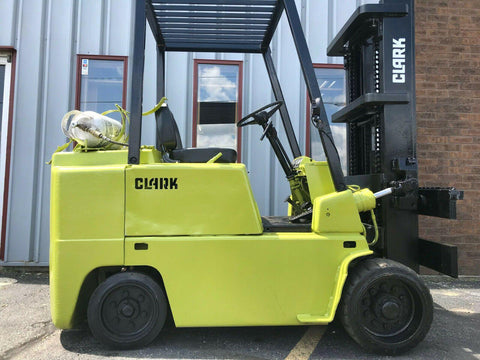 "2000 CLARK C500-70 7000 LB LP GAS FORKLIFT CUSHION 171"" 3 STAGE MAST SIDE SHIFTER 7001 HOURS STOCK # BF9734679-MWWI"