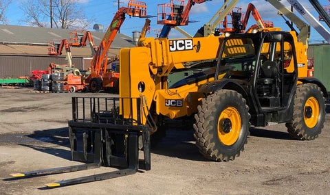 2014 JCB 509-42 9000 LB DIESEL TELESCOPIC FORKLIFT TELEHANDLER PNEUMATIC 4WD 2480 HOURS STOCK # BF9494459-NLEQ - United Lift Used & New Forklift Telehandler Scissor Lift Boomlift