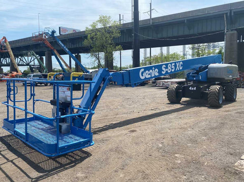 2018 GENIE S85XC TELESCOPIC BOOM LIFT AERIAL LIFT 85' REACH DIESEL 4WD 370 HOURS STOCK # BF9991309-NLEQ - United Lift Used & New Forklift Telehandler Scissor Lift Boomlift