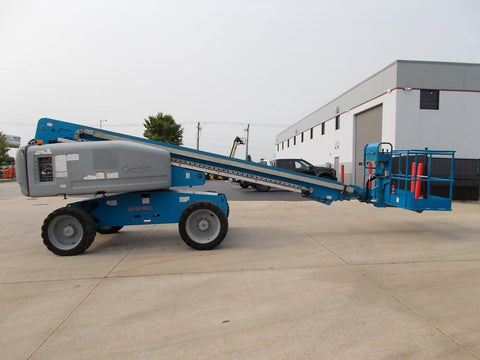 2011 GENIE S60X TELESCOPIC BOOM LIFT AERIAL LIFT 60' REACH DIESEL 4WD 3903 HOURS STOCK # BF924430-RIL