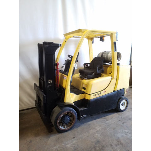2012 HYSTER S120FT 12000 LB LP GAS FORKLIFT CUSHION 80/91 2 STAGE MAST 7451 HOURS STOCK # 20802-NCB