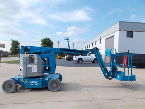 2007 GENIE Z34/22N ARTICULATING BOOM LIFT AERIAL LIFT 34' REACH 48 VOLT ELECTRIC 2WD 44 HOURS STOCK # BF924337-RIL