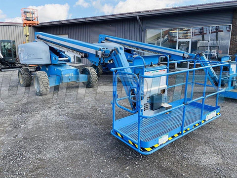 2007 GENIE S65 TELESCOPIC STRAIGHT BOOM LIFT AERIAL LIFT WITH JIB ARM 65' REACH DIESEL 4WD 5149 HOURS STOCK # BF9280099-BATNY - United Lift Used & New Forklift Telehandler Scissor Lift Boomlift