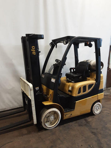 "2012 YALE GLC050VX 5000 LB LP GAS FORKLIFT CUSHION 85/194"" 3 STAGE MAST SIDE SHIFTER 10251 HOURS STOCK # BF9222469-NCB - United Lift Used & New Forklift Telehandler Scissor Lift Boomlift"