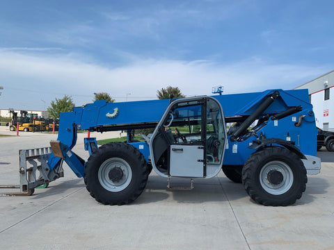 2012 GENIE GTH1056 10000 LB DIESEL TELESCOPIC FORKLIFT TELEHANDLER PNEUMATIC 4WD STOCK # BF924655-RIL