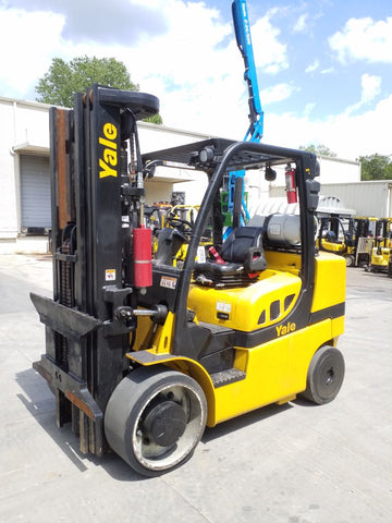 2013 YALE GLC155VX 15500 LB LP GAS FORKLIFT CUSHION 100/185 3 STAGE MAST 12677 HOURS STOCK # BF9218399-NCB