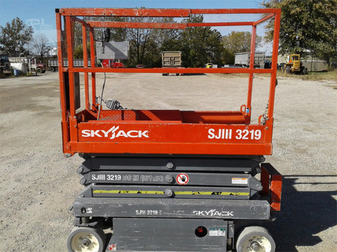 2013 SKYJACK SJIII3219 SCISSOR LIFT 19' REACH ELECTRIC CUSHION TIRES 137 HOURS STOCK # BF953399-CEIL - United Lift Used & New Forklift Telehandler Scissor Lift Boomlift