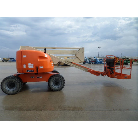 2007 JLG 450A ARTICULATING BOOM LIFT AERIAL LIFT 45' REACH DIESEL 4WD 1870 HOURS STOCK # BF965049-FILB