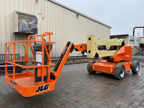 2016 JLG E450AJP ARTICULATING BOOM LIFT AERIAL LIFT WITH JIB ARM 45' REACH ELECTRIC 883 HOURS STOCK # BF9362219-NLEQ - United Lift Used & New Forklift Telehandler Scissor Lift Boomlift