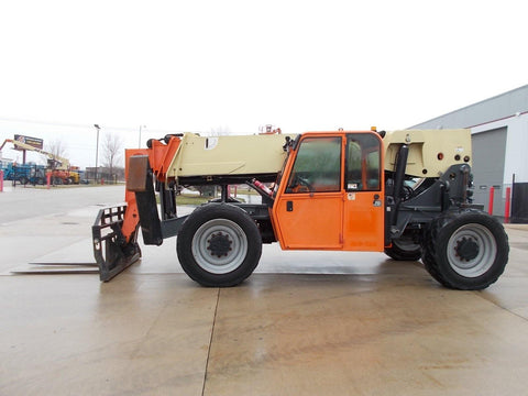 2012 JLG G10-55A 10000 LB DIESEL ENCLOSED CAB TELESCOPIC FORKLIFT TELEHANDLER PNEUMATIC 4WD STOCK # BF924367-RIL