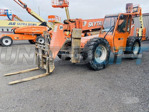 2007 SKYTRAK 10054 10000 LB DIESEL TELESCOPIC FORKLIFT TELEHANDLER PNEUMATIC 4WD ENCLOSED CAB 2923 HOURS STOCK # BF9330239-BATNY