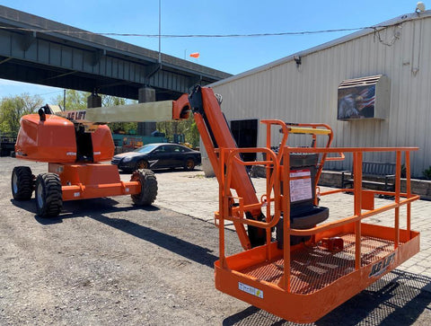 2015 JLG 460SJ STRAIGHT BOOM LIFT AERIAL LIFT WITH JIB ARM 46' REACH DIESEL 4WD 795 HOURS STOCK # BF9491459-NLEQ