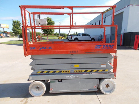 2007 SKYJACK SJIII3226 SCISSOR LIFT 26' REACH ELECTRIC CUSHION TIRES MULTIPLE UNITS AVAILABLE STOCK # BF924432-RIL
