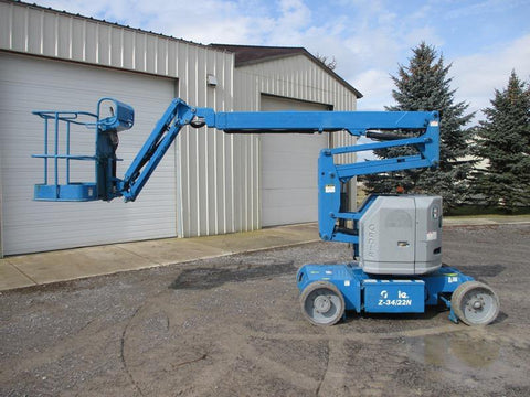 2013 GENIE Z34/22N ARTICULATING BOOM LIFT AERIAL LIFT 34' REACH 48 VOLT ELECTRIC 2WD 276 HOURS STOCK # BF9280649-HLNY