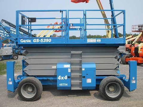2013 GENIE GS5390RT SCISSOR LIFT 53' REACH DIESEL ROUGH TERRAIN 4WD 972 HOURS STOCK # BF9294679-HLNY