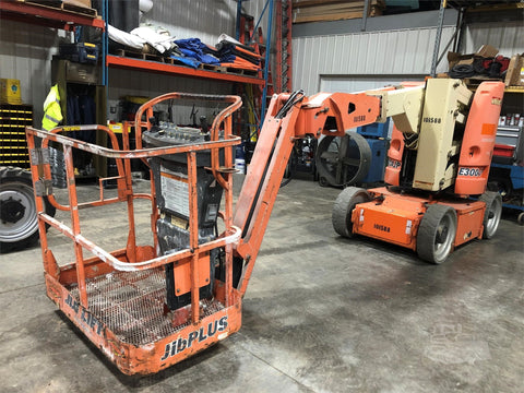 2009 JLG E300AJP ARTICULATING BOOM LIFT AERIAL LIFT WITH JIB ARM 30' REACH ELECTRIC 1152 HOURS STOCK # BF9133229-ISNY - United Lift Used & New Forklift Telehandler Scissor Lift Boomlift