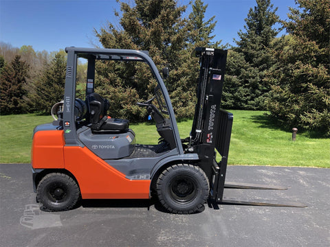 "2019 TOYOTA 8FGU25 5000 LB LP GAS FORKLIFT PNEUMATIC 189"" 3 STAGE MAST SIDE SHIFTER BRAND NEW STOCK # BF9321259-ISNY - United Lift Used & New Forklift Telehandler Scissor Lift Boomlift"
