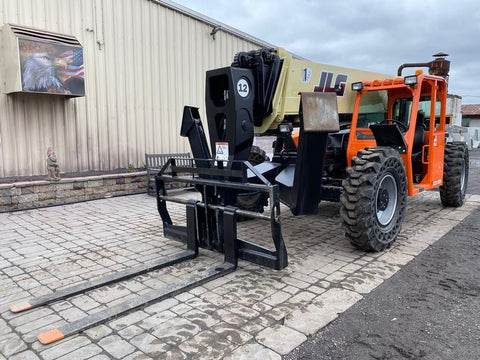 2013 JLG G12-55A 12000 LB DIESEL TELESCOPIC FORKLIFT TELEHANDLER PNEUMATIC 4WD 3407 HOURS STOCK # BF9673879-NLEQ - United Lift Used & New Forklift Telehandler Scissor Lift Boomlift