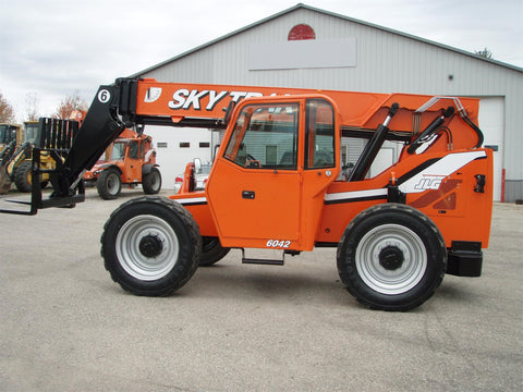 2012 SKYTRAK 6042 6000 LB DIESEL TELESCOPIC FORKLIFT TELEHANDLER PNEUMATIC 4WD ENCLOSED CAB 2215 HOURS STOCK # BF9462129-EEMI - United Lift Used & New Forklift Telehandler Scissor Lift Boomlift