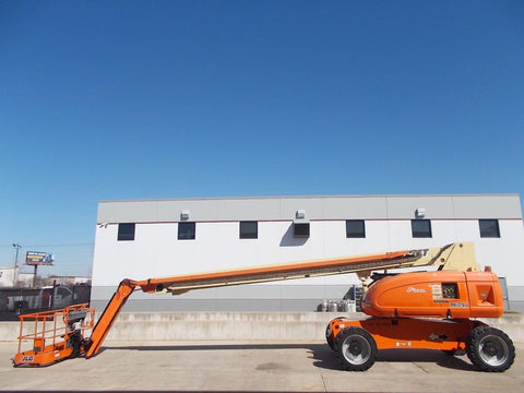 2006 JLG 860 SJ STRAIGHT BOOM LIFT AERIAL LIFT WITH JIB ARM 86' REACH DIESEL 4WD STOCK # BF98604S-RIL