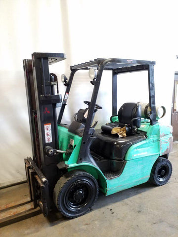2010 MITSUBISHI FG25N 5000 LB LP GAS FORKLIFT PNEUMATIC 83/187 3 STAGE MAST SIDE SHIFTER 7450 HOURS STOCK # BF9220049-NCB
