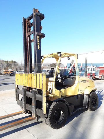"2016 HYSTER H155FT 15500 LB DIESEL FORKLIFT PNEUMATIC 148/212"" 2 STAGE MAST 6446 HOURS STOCK # BF9225549-NCB"