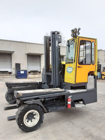 "2009 COMBI-LIFT CL45300DA58 30000 LB DIESEL FORKLIFT CUSHION 135/163"" 2 STAGE MAST ENCLOSED CAB 6580 HOURS STOCK # BF9236189-NCB"