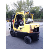 2012 HYSTER S135FT 13500 LB LP GAS FORKLIFT CUSHION 88/149 3 STAGE MAST 7430 HOURS STOCK # 21158-NCB