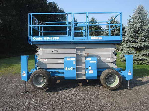 2011 GENIE GS5390RT SCISSOR LIFT 53' REACH DIESEL ROUGH TERRAIN 4WD 1504 HOURS STOCK # BF9262559-HLNY - United Lift Used & New Forklift Telehandler Scissor Lift Boomlift
