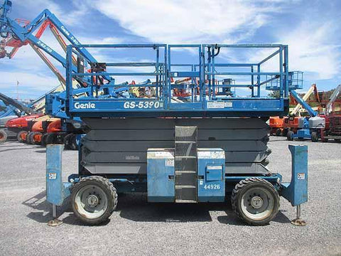2007 GENIE GS5390 SCISSOR LIFT 53' REACH DIESEL ROUGH TERRAIN 4WD 1889 HOURS STOCK # BF9183129-HLNY - United Lift Used & New Forklift Telehandler Scissor Lift Boomlift