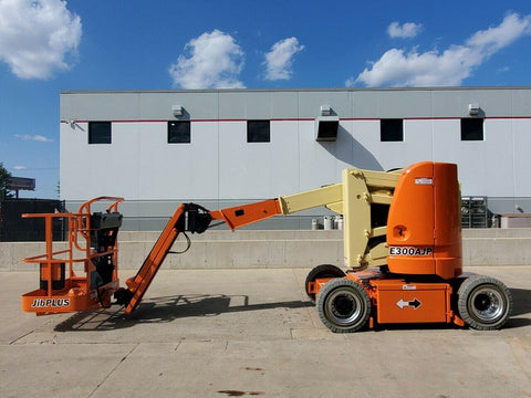 2013 JLG E300AJP ARTICULATING BOOM LIFT AERIAL LIFT 30' REACH ELECTRIC 2WD 543 HOURS STOCK # BF9989199-RIL - United Lift Used & New Forklift Telehandler Scissor Lift Boomlift