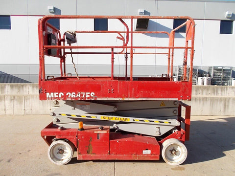 2008 MEC 2647ES 26' REACH SCISSOR LIFT ELECTRIC STOCK # BF923814-RIL