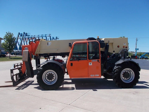 2010 JLG G12-55A 12000 LB DIESEL TELESCOPIC FORKLIFT TELEHANDLER PNEUMATIC 4WD ENCLOSED CAB 3081 HOURS STOCK # BF9G1201-RIL