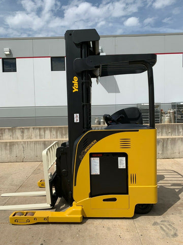 2008 YALE NDR035DA 3500 LB ELECTRIC FORKLIFT 119/239 3 STAGE MAST SIDE SHIFTER STOCK # BF9330729-RIL