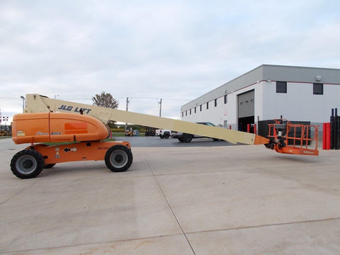 2006 JLG 800S TELESCOPIC BOOM LIFT AERIAL LIFT 80' REACH DIESEL 4WD 4758 HOURS STOCK # BF9238009-RIL