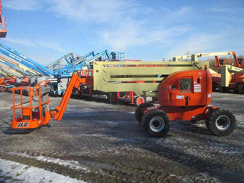 2011 JLG 450AJ ARTICULATING BOOM LIFT AERIAL LIFT WITH JIB ARM 45' REACH DIESEL 4WD 2453 HOURS STOCK # BF9332319-HLNY - United Lift Used & New Forklift Telehandler Scissor Lift Boomlift